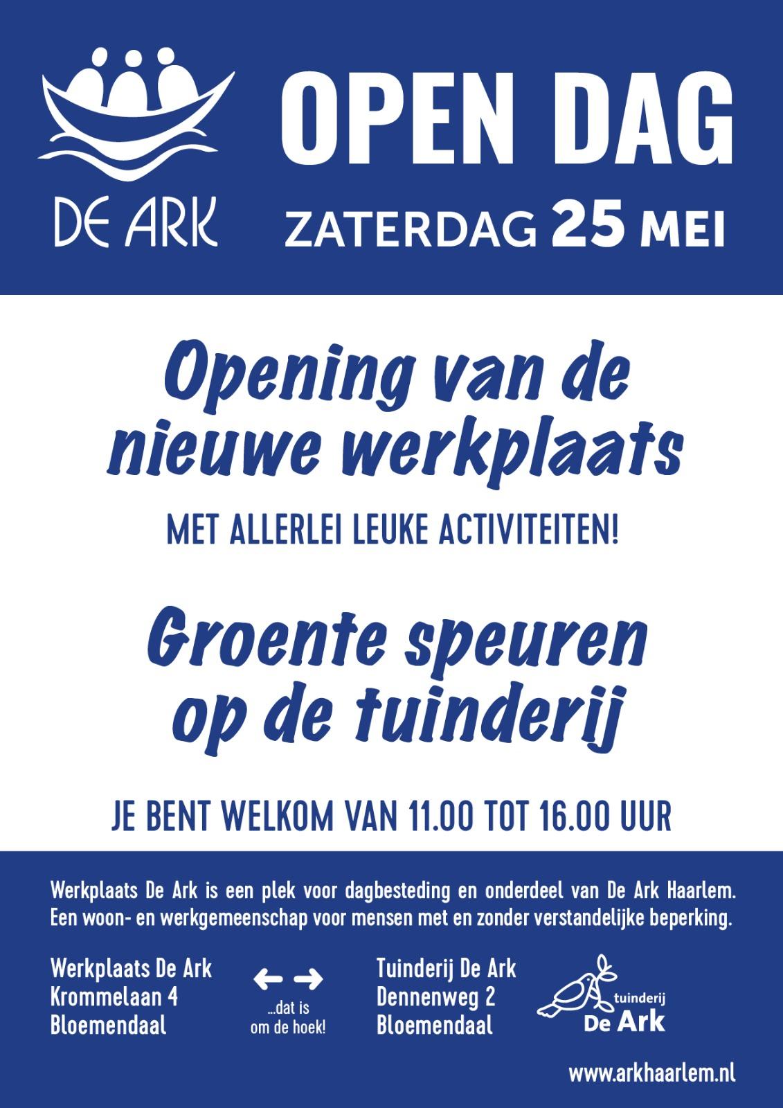Open Dag op 25 mei